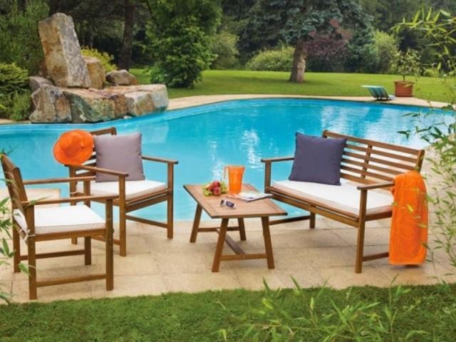 Des plages de piscine aménagées en toute simplicité  - Mobilier de jardin