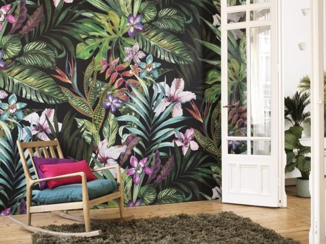 10 idées pour adopter le papier peint tropical