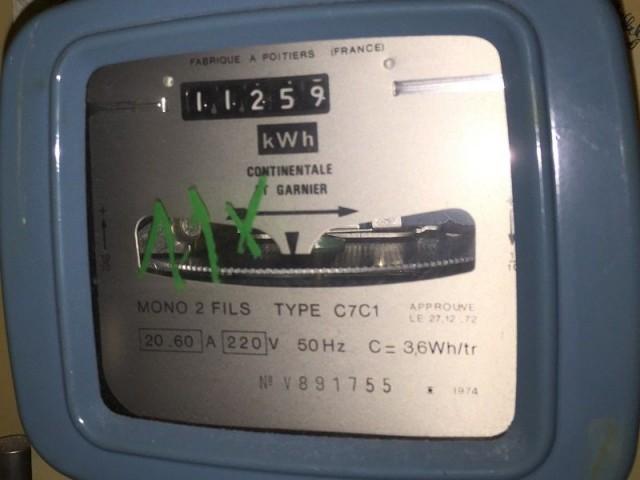 Compteur électrique à disque