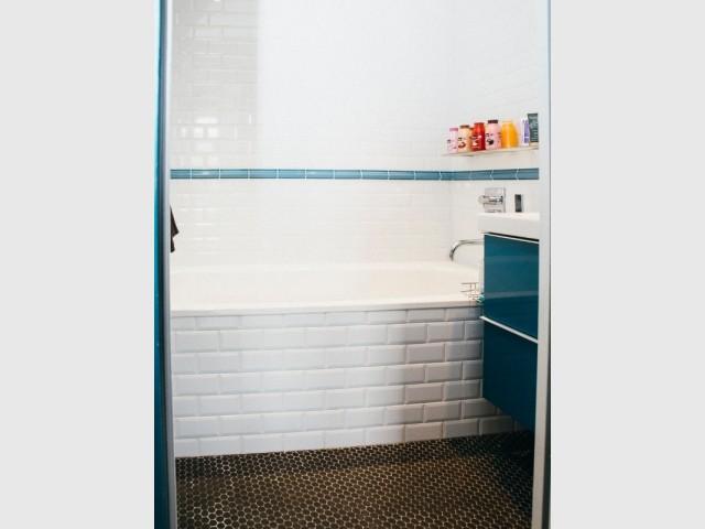 Carrelage métro pour une salle de bains moderne