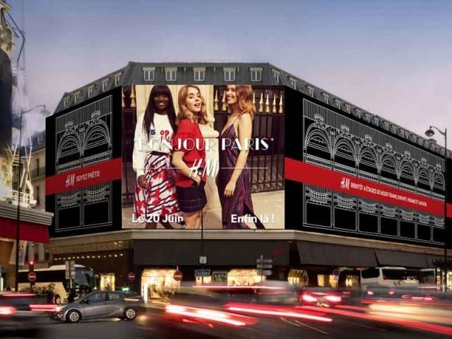 H&M inaugure son flagship au coeur de Paris