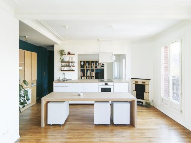 Un séjour-cuisine deux fois plus spacieux