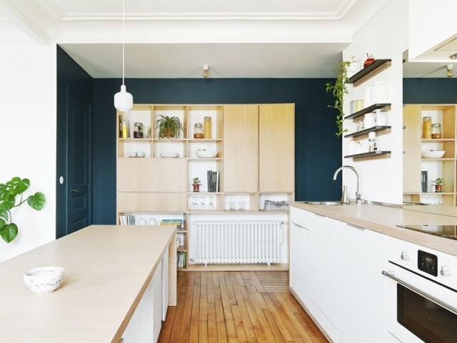 Un meuble fabriqué sur-mesure dans la cuisine