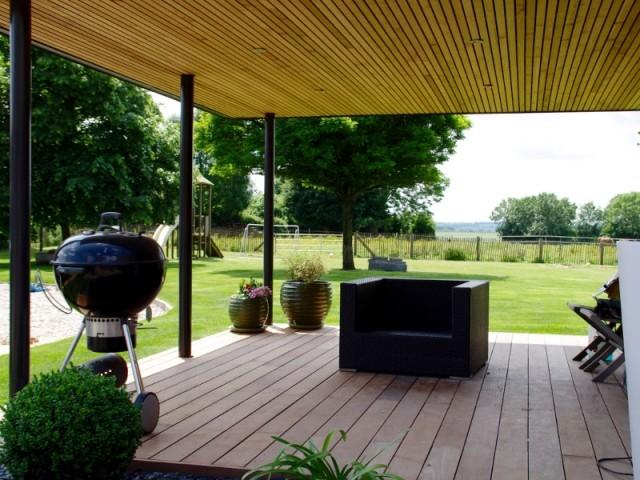 L'extension permet de créer une troisième terrasse