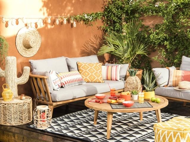 Une terrasse à l'ambiance mexicaine bien affirmée