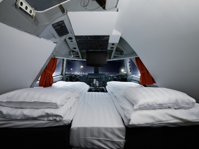 Dormir dans un avion au Jumbo Stay Hotel