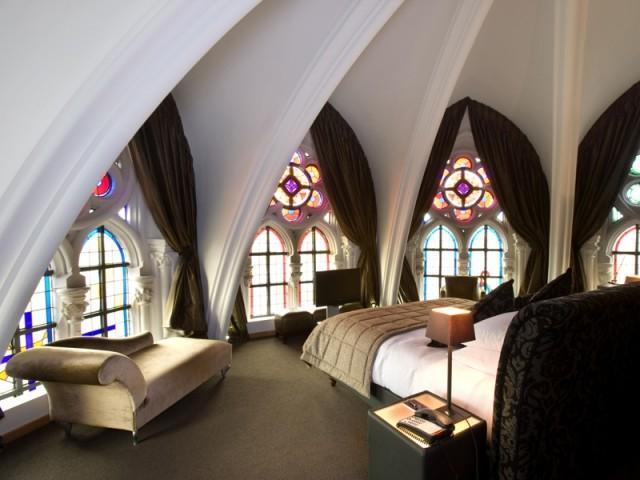 Dormir dans une cathédrale à l'Hôtel Martin's Patershof en Belgique