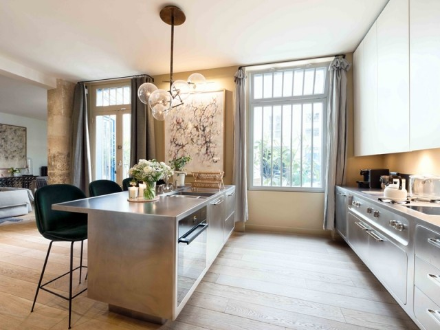 Une cuisine ouverte au design très chic
