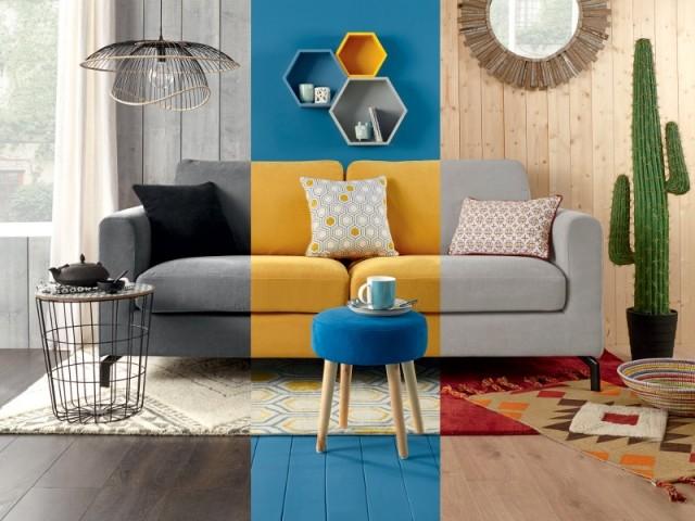 Utiliser la peinture pour délimiter les espaces d'une même pièce est une bonne astuce déco