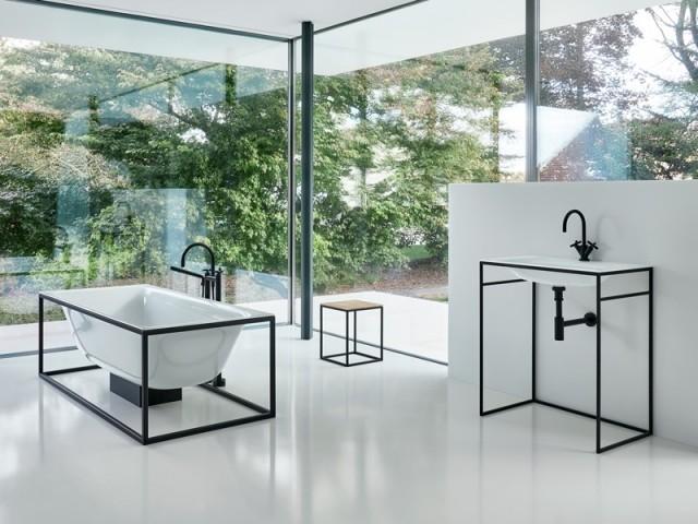Une vasque design au look industriel