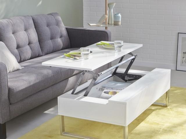 Table basse avec tablette relevable Novy, Alinéa, prix : 235 €