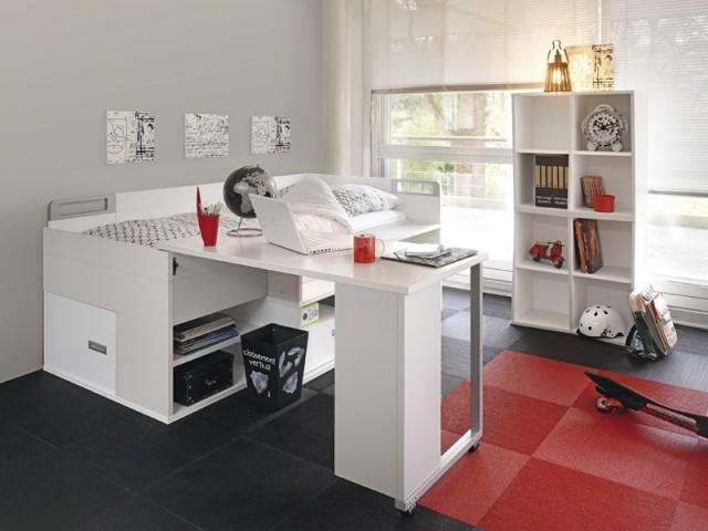 Lit compact avec bureau Dimix, Gautier, prix : à partir de 1.785 €