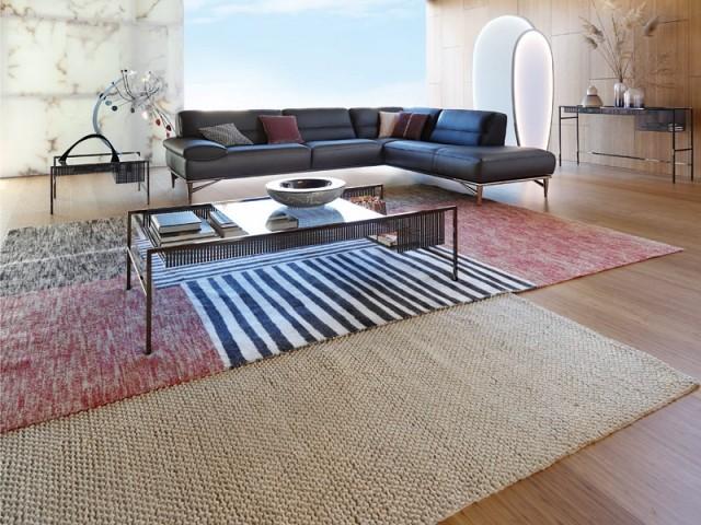 Deux tapis superposés pour un esprit décalé
