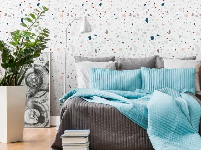 Papier peint Les Memphis granite, à partir de 36,90 € le m2