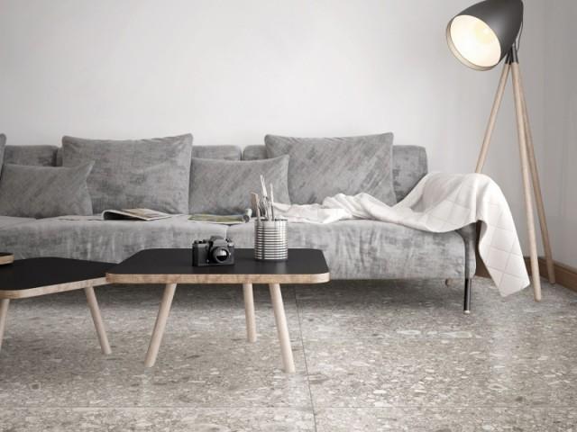 Grès cérame motif terrazzo, 58,80 € le m2, en vente chez David B