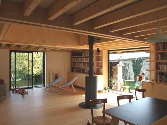 Un intérieur tout en bois aux allures de chalet