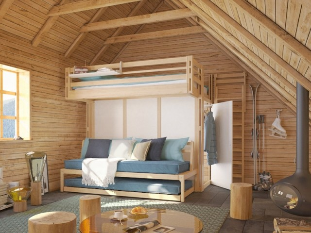 Du bois des murs au plafond