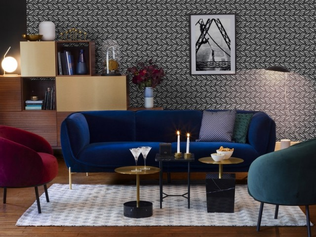 Canapé en velours Gaspard, Habitat, prix : 1.190 €