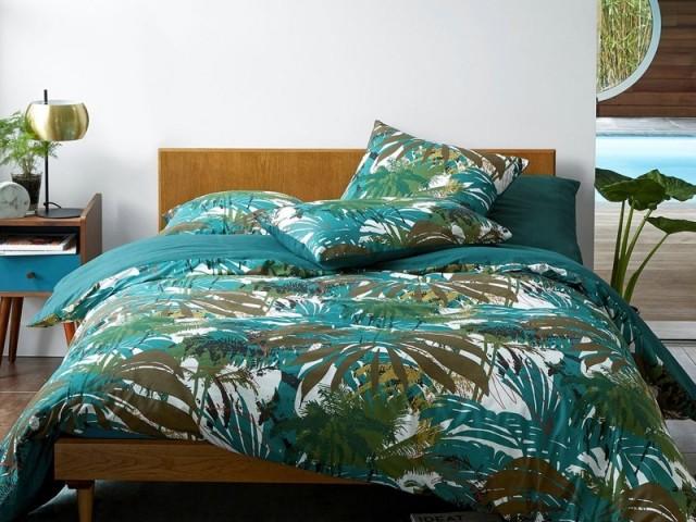 Des draps imprimés feuillage pour des rêves exotiques