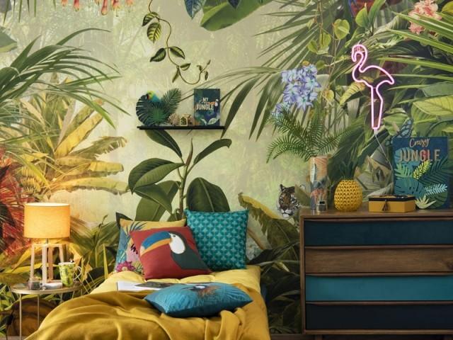 Ambiance forêt tropicale dans la chambre