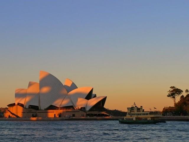 Impression soleil couchant - Opéra de Sydney