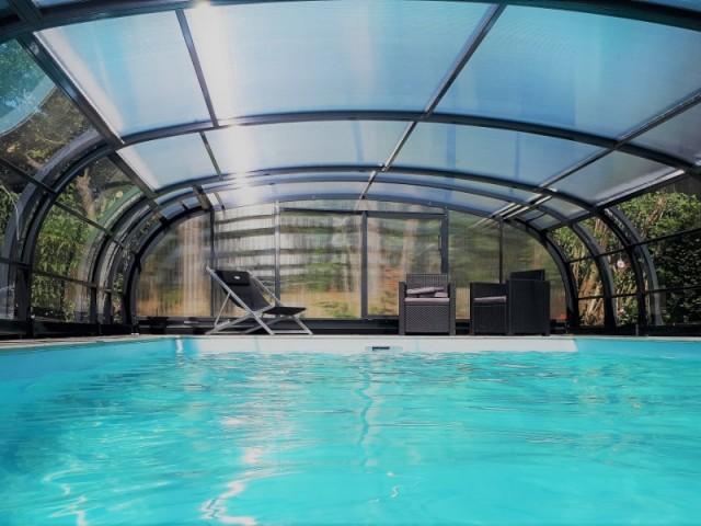Abis haut de piscine en aluminum, coulissant