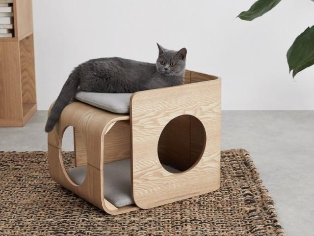 Lit carré pour chat Kyali, Made.com; prix : 119 €