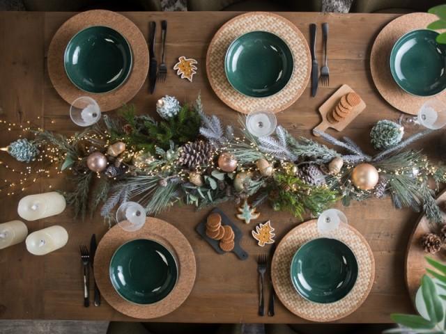 Une déco nature pour une table de fête élégante