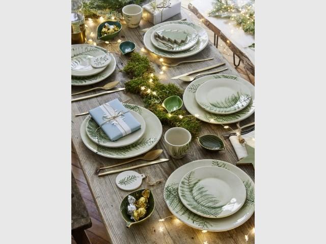 Une table de fêtes inspirée de la nature