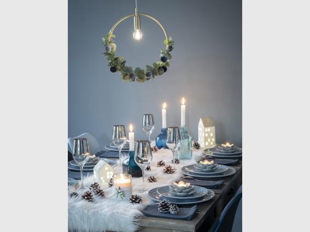 Une table de fêtes d'inspiration nordique