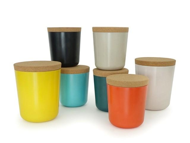 Gusto Storage Jars avec couvercle en liège, designer Boo Louis, 9 € l'un