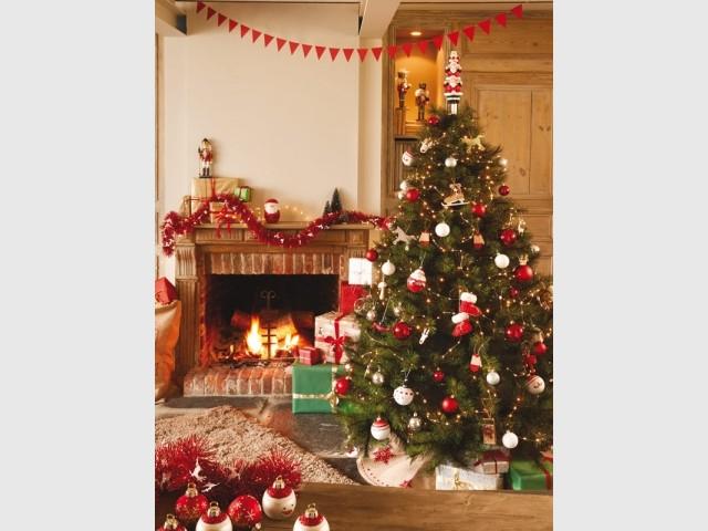 Noël au coin du feu dans un cocon rustique