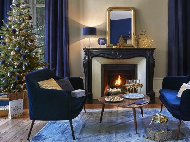 Noël au coin du feu dans un cocon chic