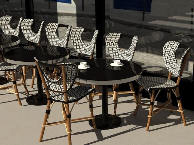 """La chaise """"Une place en terrasse"""""""