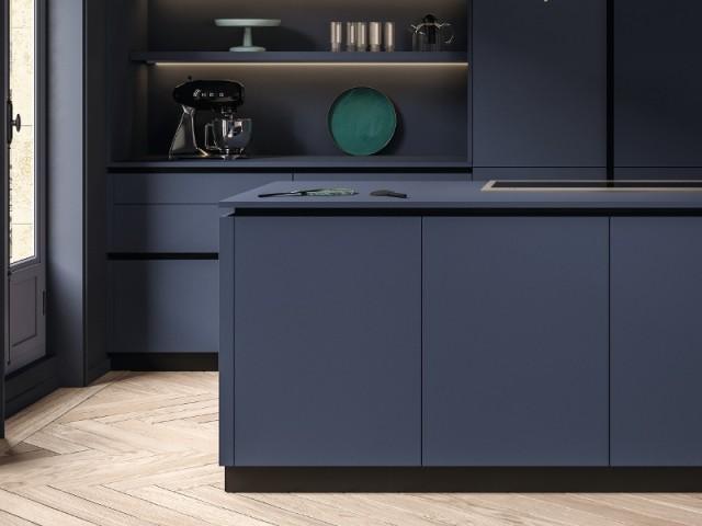 Cuisine signature avec meubles finition velours