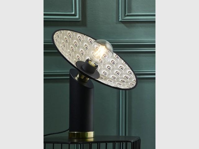 Lampe Gatsby coloris rose paon, Market Set, 165 €