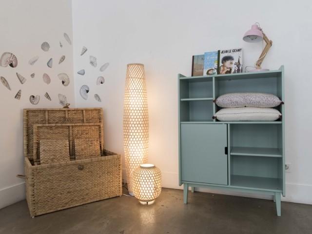 Lampe cannage, Conforama, à partir de 39 €