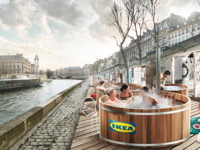 Ikea vous invite à prendre un bain nordique sur les quais de Seine