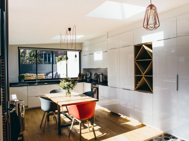 Une extension qui abrite la nouvelle cuisine