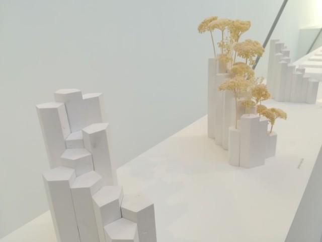 Creuser la tour pour y faire pénétrer la lumière - Tour futuriste au pavillon de l'Arsenal, février 2019