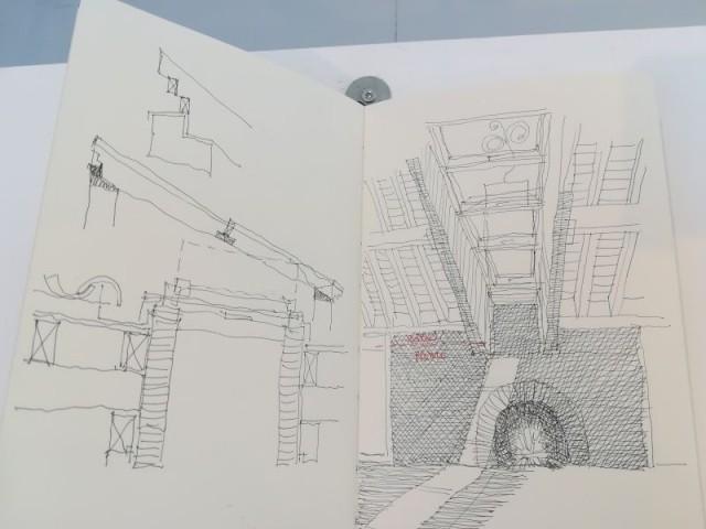 Architecture de papier - Tour futuriste au pavillon de l'Arsenal, février 2019
