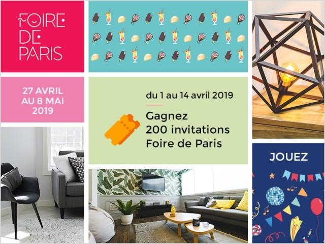 Gagnez des invitations pour la Foire de Paris 2019 !