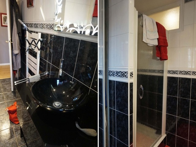 Avant : une salle de bains sombre et peu fonctionnelle