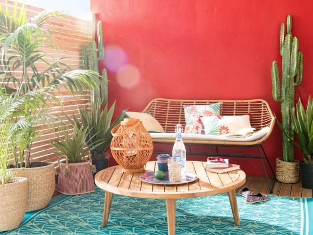 Un balcon coloré comme un salon