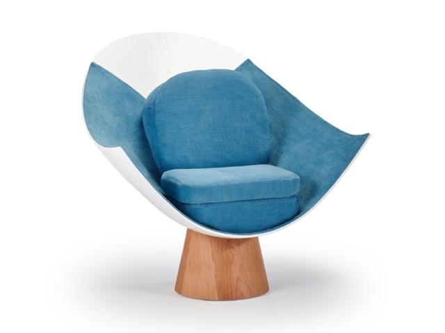 Le fauteuil Cloud, fabriqué dans un nez d'A350