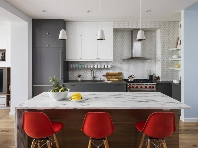 Esprit vintage et lignes contemporaines dans la cuisine