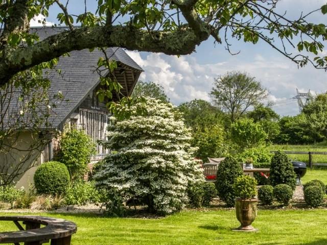 Un jardin savamment aménagé