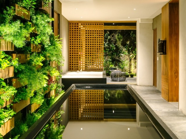 Un jardin de pierre zen dans la Villa Jardin