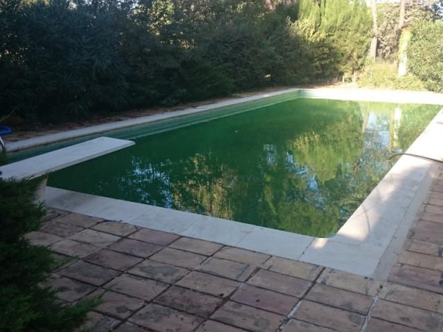 Le bassin avant sa rénovation, récompensée aux Trophées de la piscine 2015