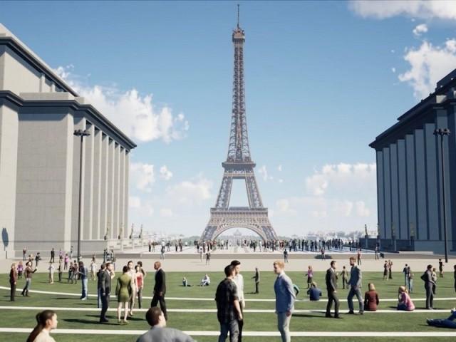 Un projet uniquement conçu en 3D - Projet Tour Eiffel